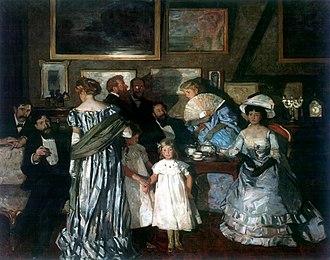 Lucien Simon - Image: Lucien Simon, 1904 Soirée à l'Atelier