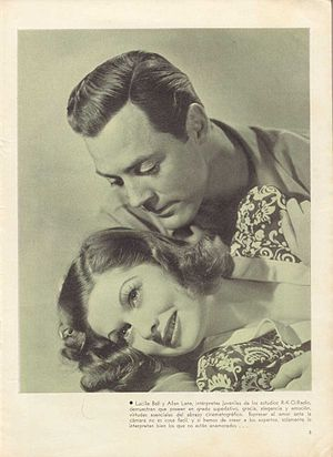 Allan Lane - Publicity photo with Lucille Ball in Panama Lady (1939)