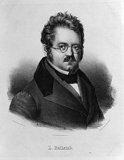 Ludwig Rellstab German poet and music critic