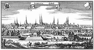 Lübeck - Lübeck in 1641