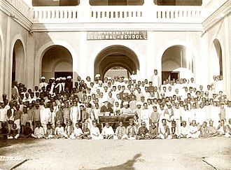 Sirkazhi - Opening ceremony 1896 of the Lutheran Mission Central-School in Sirkazhi