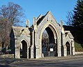 Lychgate at Kingston Cemetery, St Mary's Road, Kingston, Portsmouth (NHLE Code 1387194) (November 2017) (3).JPG