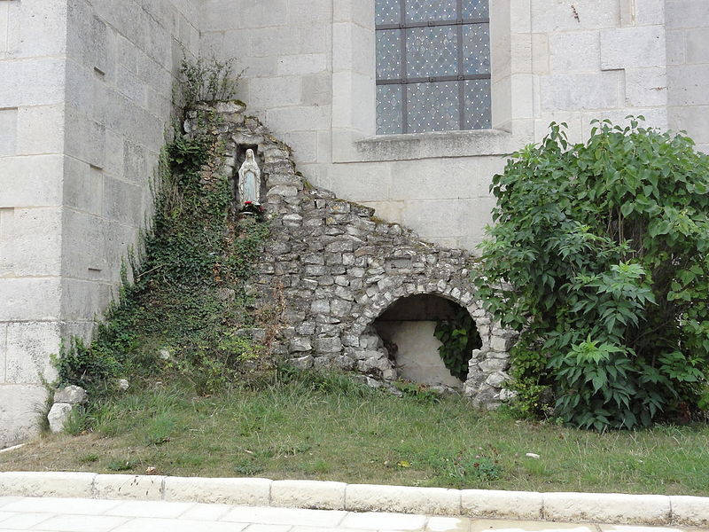 Méligny-le-Grand (Meuse) grotte de Lourdes
