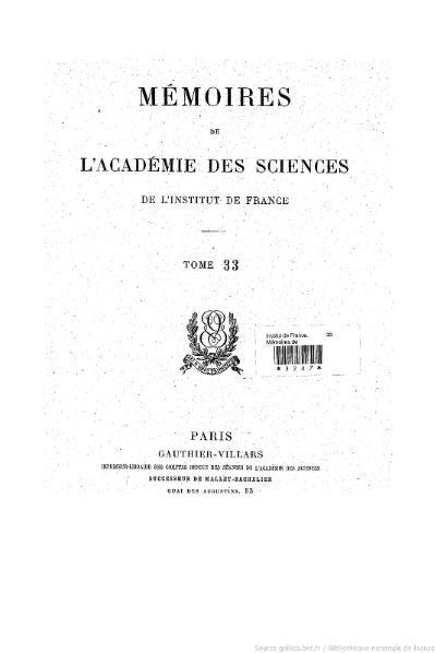 File:Mémoires de l'Académie des sciences, Tome 33.djvu
