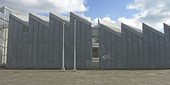Detail of the postmodern Abteiberg Museum in G...
