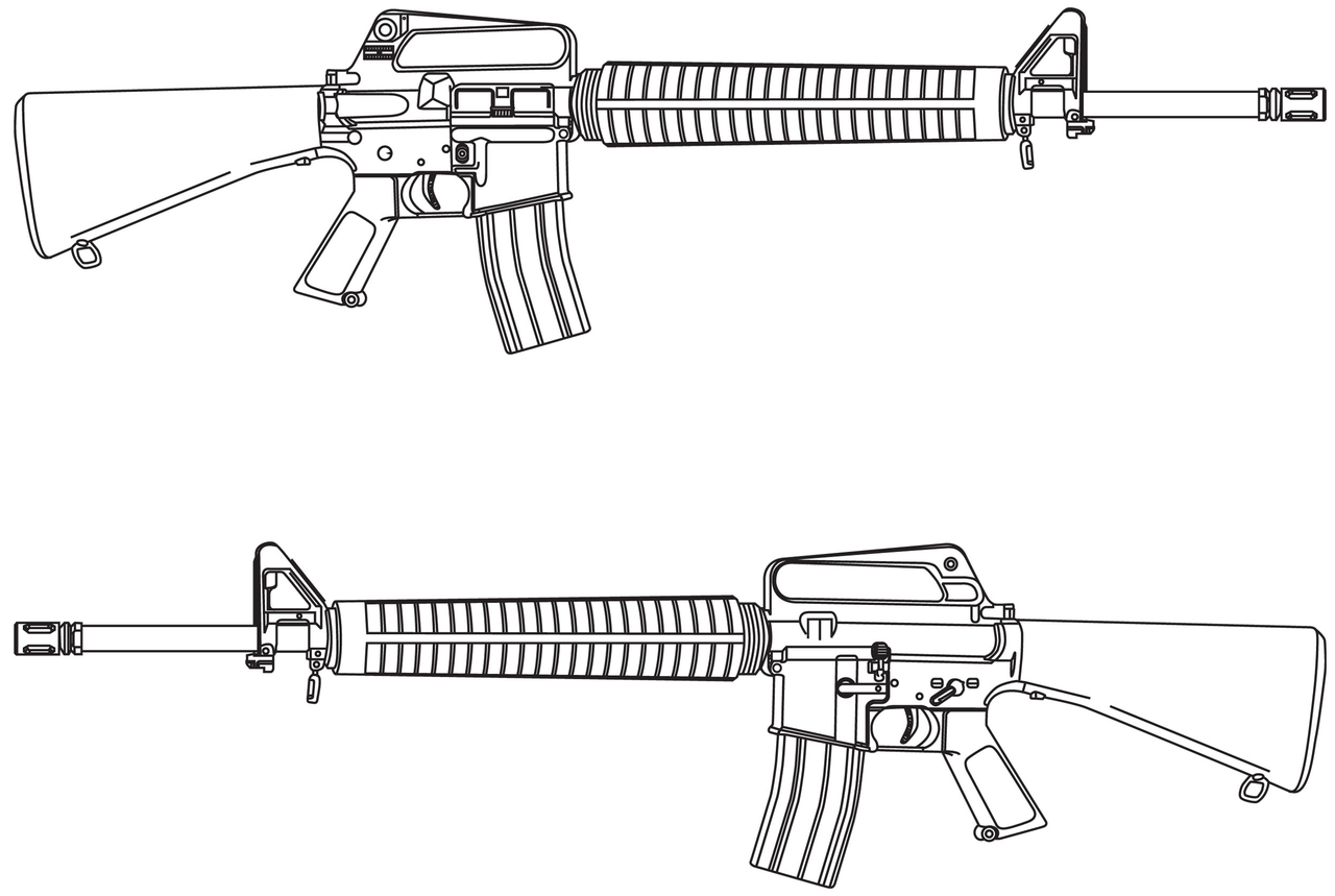 Line Drawing Wikipedia : File m a rifle line drawing wikimedia commons