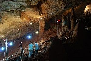 Manot 1 -  Manot Cave under excavation in 2011