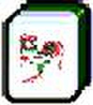 Mahjong tiles - Cockerel