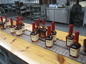 English: Maker's Mark production line, just af...