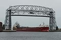 MV Atlantic Erie enters the Duluth Harbor und the Aerial Lift Bridge.jpg