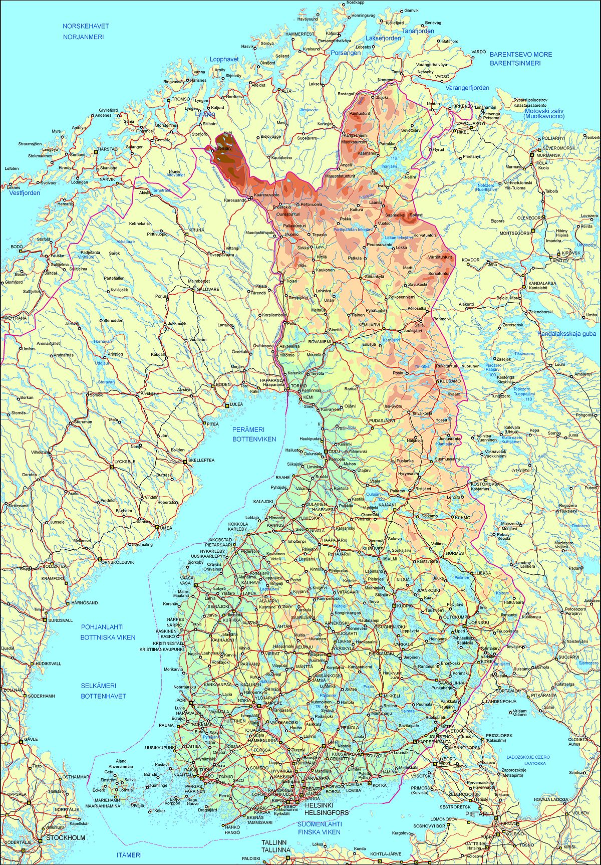 Suomen Kaupungit Kartat Paras Online Kasino Suomessa