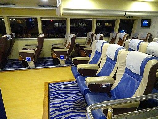 Macau Cotai Water Jet ferry 1st class desk interior 金光飛航 night April 2016 DSC (4)
