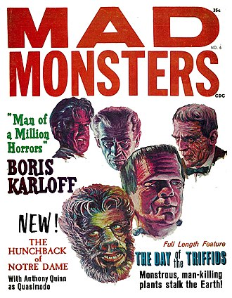 Famous Monsters of Filmland - Image: Mad Monsters No 6