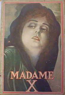 <i>Madame X</i> 1908 play by French playwright Alexandre Bisson