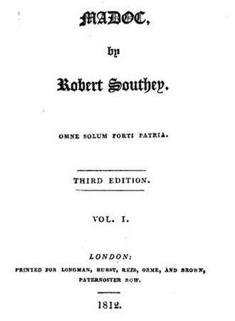 Madoc (poem) - Title page of the third edition, 1812