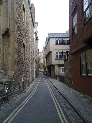 Magpie Lane, Oxford - View north, towards the High Street