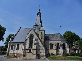Mailly-Maillet - The church in Mailly-Maillet