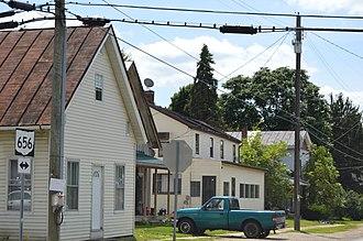 Sparta, Ohio - Houses on Main Street