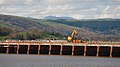 Maintenance work on Arnside Railway Viaduct, Cumbria, 2nd April 2011 (13583536033).jpg