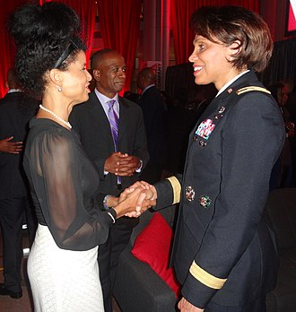 Victoria Rowell - Rowell (left) with Maj. Gen. Nadja West in Washington, DC in 2013
