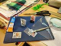 Making stamp mounts at home by hand.jpg