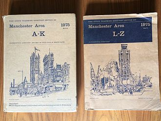Telephony in Greater Manchester - Set of Manchester Area Telephone Directories from 1975