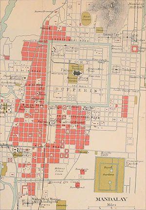 Mandalay Burma map 1911