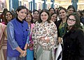 Maneka Sanjay Gandhi with the Women Achievers of India selected by the Ministry of Women & Child Development in collaboration with Facebook vide contest through Public Nominations, at Rashtrapati Bhavan, in New Delhi (1).jpg