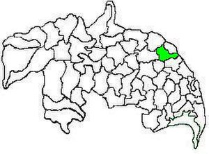 Mangalagiri mandal - Mandal map of Guntur district showing   Mangalagiri mandal (in green)