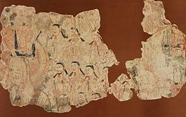 Manichaean wall painting from Chotcho.jpg
