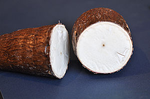 Cassava - A cross-section of cassava