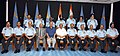 Manohar Parrikar with the Air Force Commanders, at the Air Force Commanders' Conference, in New Delhi. The Minister of State for Planning (Independent Charge) and Defence, Shri Rao Inderjit Singh.jpg