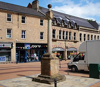 Mansfield - Mansfield's Buttercross Market Monument on West Gate