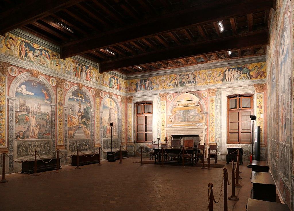 Mantova, palazzona della valle presso palazzo d'arco, sala dello zodiaco, 01