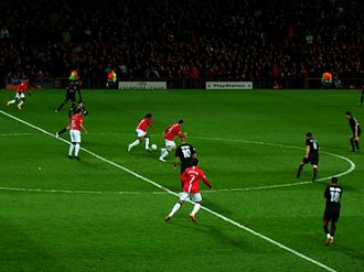 2008 UEFA Champions League Final - Manchester United beat Lyon 1–0 in the second leg of their first knockout round tie at Old Trafford.