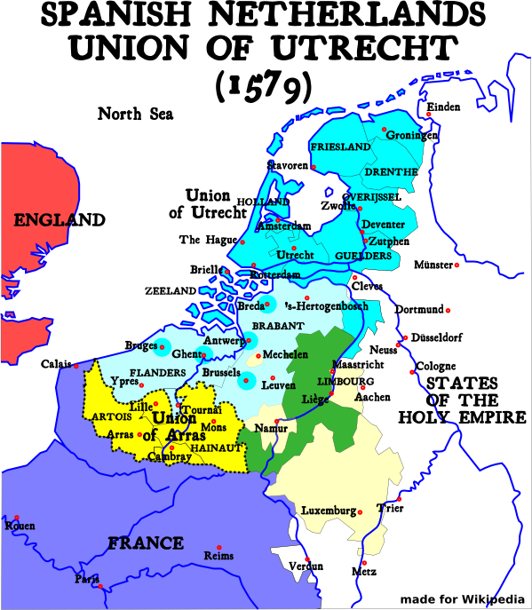 Map-1579 Union of Utrecht