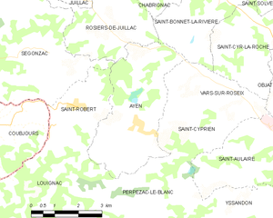 Map commune FR insee code 19015.png