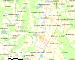 Nuits-Saint-Georges – Mappa