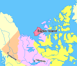 Map indicating Banks Island, New Territories, Canada.png