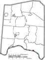 Map of Adams County Ohio Highlighting Rome Village.png