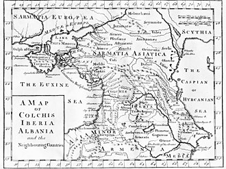 "History of Crimea - The ""Chersonesus Tauricus"" of Antiquity, shown on a map printed in London, ca 1770"