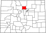 Map of Colorado highlighting Boulder County.svg