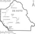 Map of De Soto Parish Louisiana With Municipal Labels.PNG