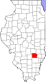 Map of Illinois highlighting Clay County.svg