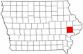 Map of Iowa highlighting Cedar County.png