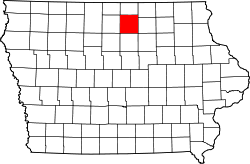 Map of Iowa highlighting Cerro Gordo County.svg