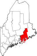 Map of Maine highlighting Hancock County.svg