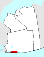 Location in Nassau County.Note: Does not indicate the separation of Long Beach from Long Island by Reynolds Channel.
