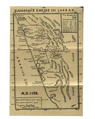 Zamorin of Calicut - Map of Samoothiri kingdom