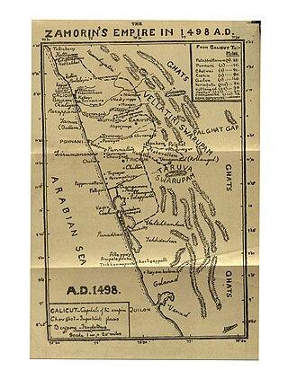 Zamorin of Calicut - Map of Samoothiri kingdom